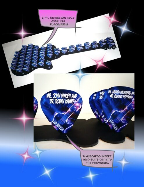 guitar pick placards